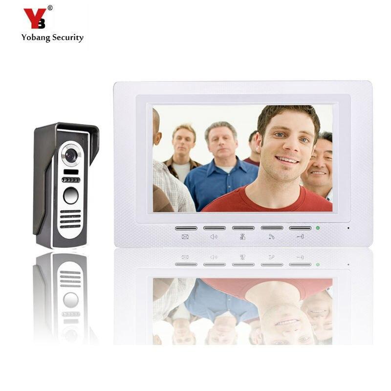 Yobang Security Home Color Video Door Phone Door Bell Video Intercom Monitor Kit IR Night Vision Camera Door Bell For Apartment