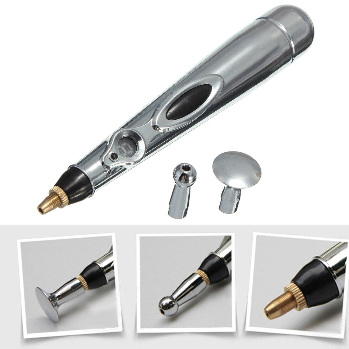 Elektrische Meridian Akupunktur Stift Mit Massageköpfe Akupunkturpunkt Einzelpulsenergie Schmerzlinderung Therapie Heilen Körper Massage Stift