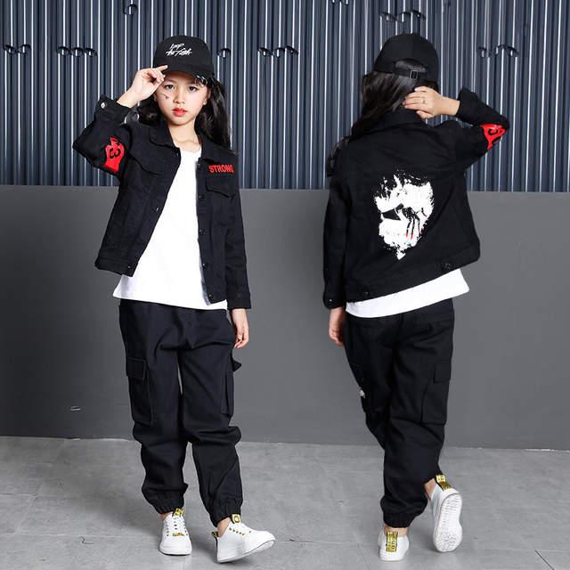 327233924 Online Shop Black Cotton 3pcs Teenage Clothing Sets For Boys Girls ...