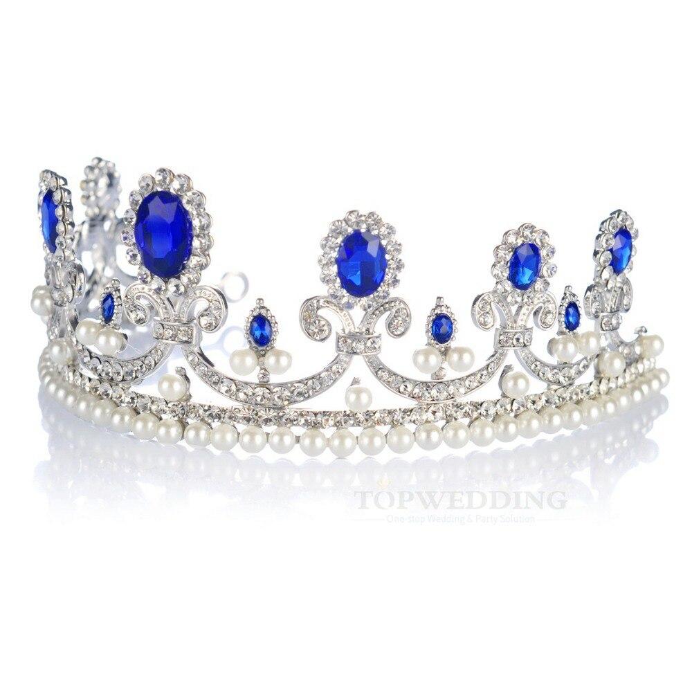 تيجان ملكية  امبراطورية فاخرة Wedding-Bridal-Tiara-Crown-Royal-Blue-Rhinesrones-Crystal-Vintage-Pearls-Wedding-Tiara-for-Wedding-TopWedding