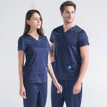 EDS Nurse Uniforms Nursing Work Outfits Xtreme Scrub Sets Medical Uniform Women Men Label Scrubs Infinity Nurse Workwear Tunic