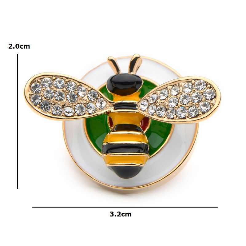 Wuli & Baby Timbro Dello Smalto Bee Collare Spilli Per Le Donne Della Lega Insetti Regali Dei Bambini Vestito Spilli Gioielleria di marca