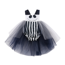 Newborn Baby Girl Smile Face Tutu Dress Kids Halloween Party Fancy Cosplay Costume Toddler Girls Lace Backless Vestido Dresses