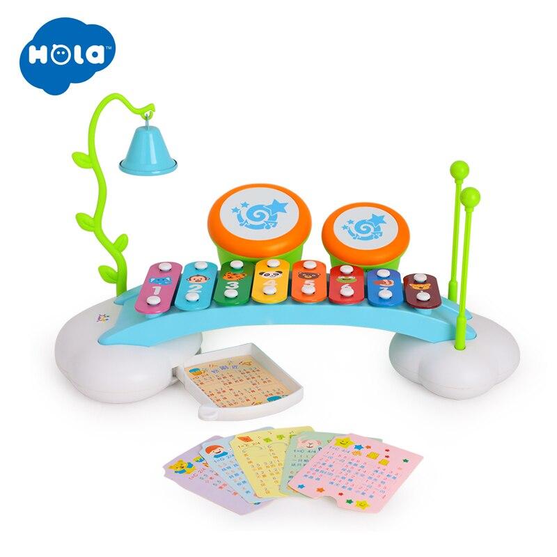 Xylophone bebé instrumento Musical Piano con 8 teclas de Metal de colores con 2 Mallets seguros para niños pequeños
