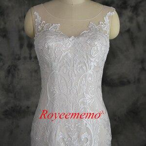 Image 2 - Champagne e avorio speciale di disegno del merletto vestito da cerimonia nuziale classico di stile della sirena abito da sposa su ordine della fabbrica di prezzi allingrosso