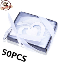 50PCS Bulk My Heart Bookmark For Party Boy Girl Baby Shower Souvenirs Graduation Baptism Wedding Favour And Gifts For Guest
