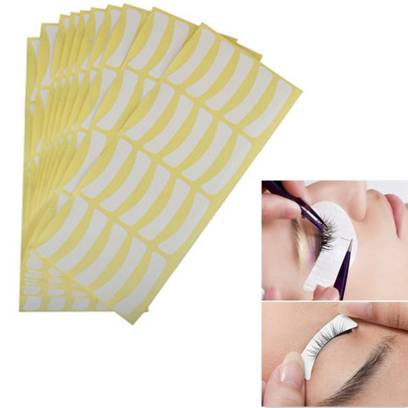 100 Pairs Under Tape Eyelash False Eye Lashes Individual Extentions Tools Makeup Accessories For Women Girls