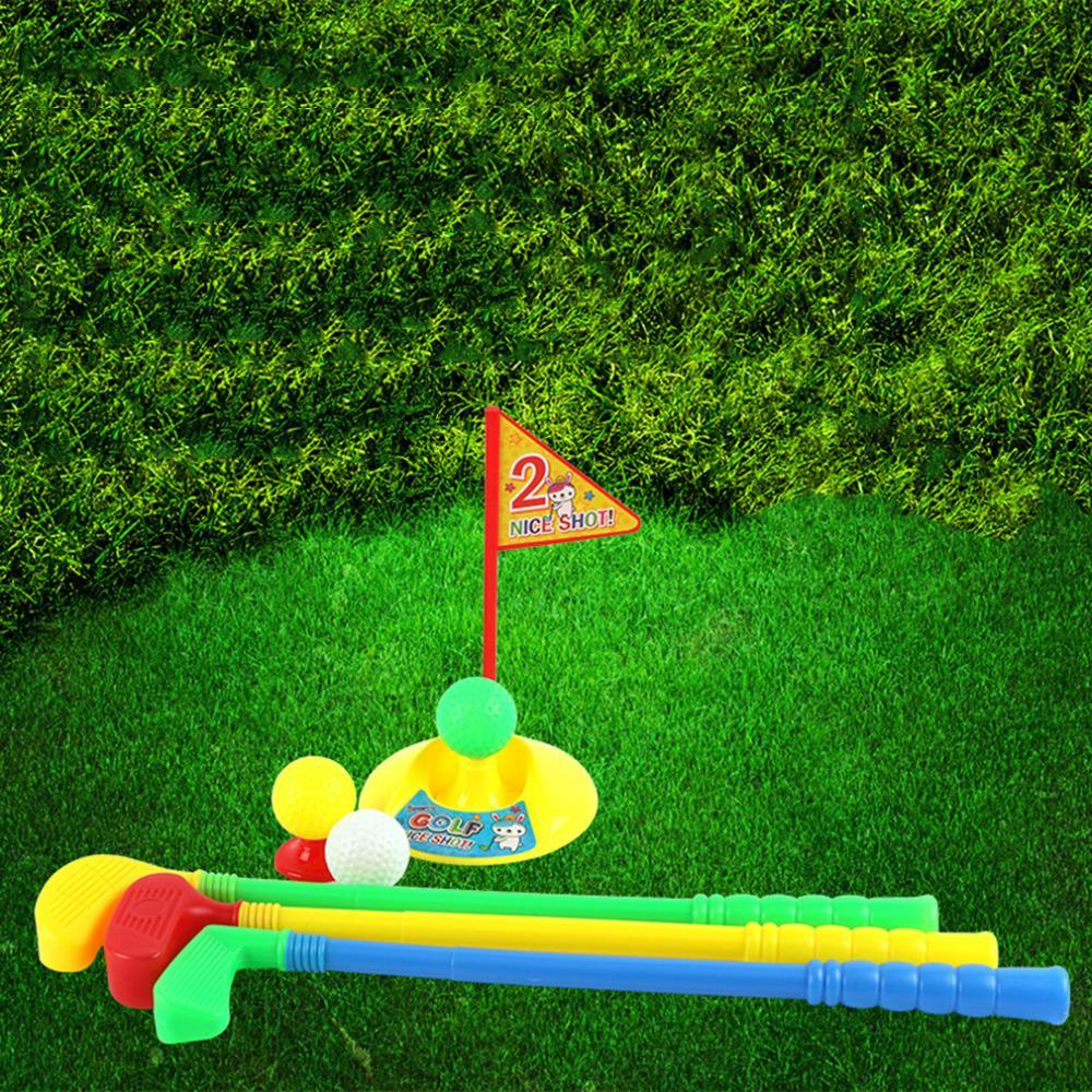 1 set multicolor plastic golf toys for children outdoor
