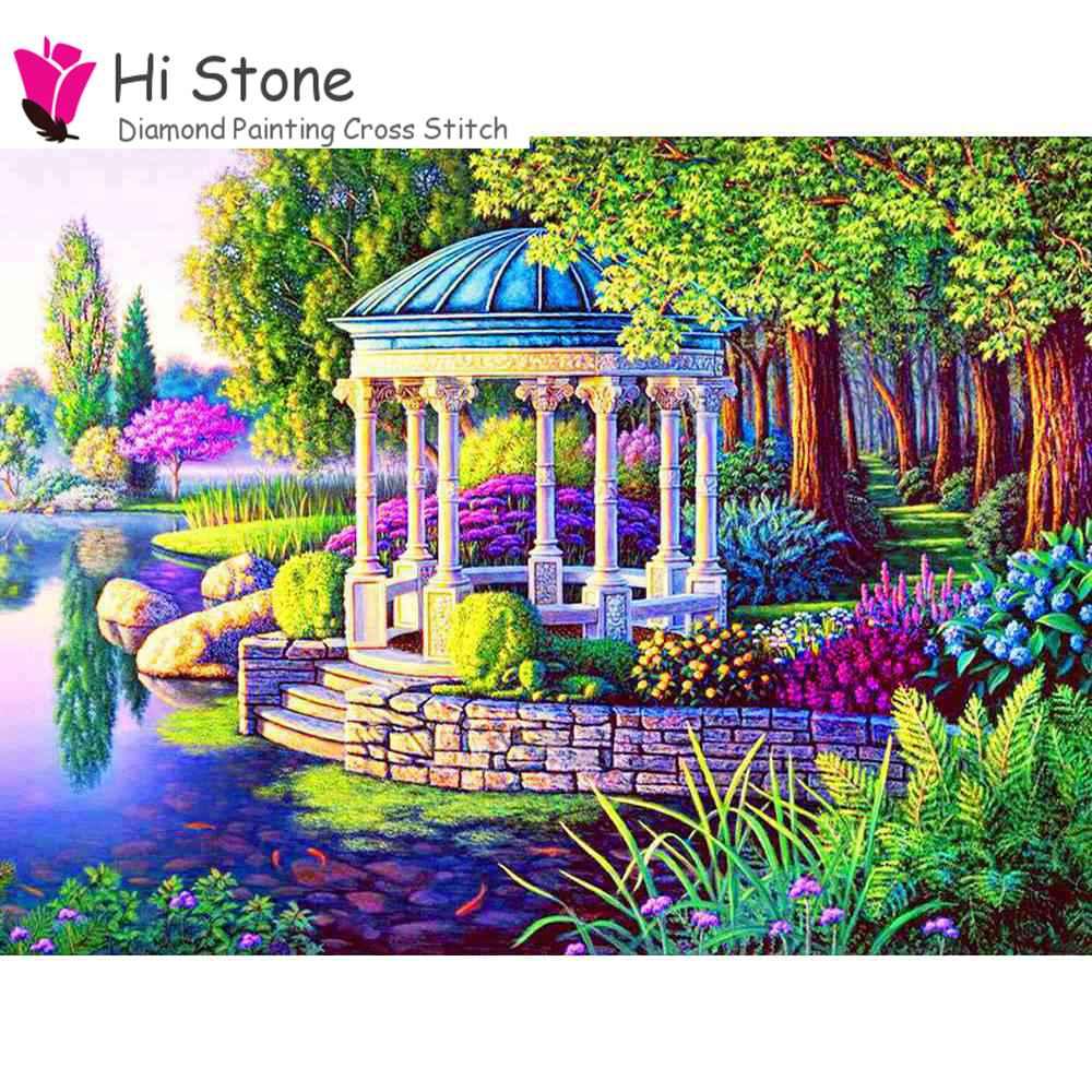 2018 новый алмаз живопись 5D Сделай Сам Вышивка крестом diamond сад мечтательный домой горный хрусталь мозаика живопись Декор подарок