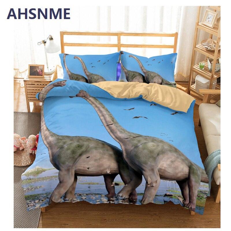 AHSNME verano venta Jurásico juego de cama de dinosaurio funda de edredón de impresión de alta definición para Australia y tamaño europeo y americano-in Juegos de ropa de cama from Hogar y Mascotas    1