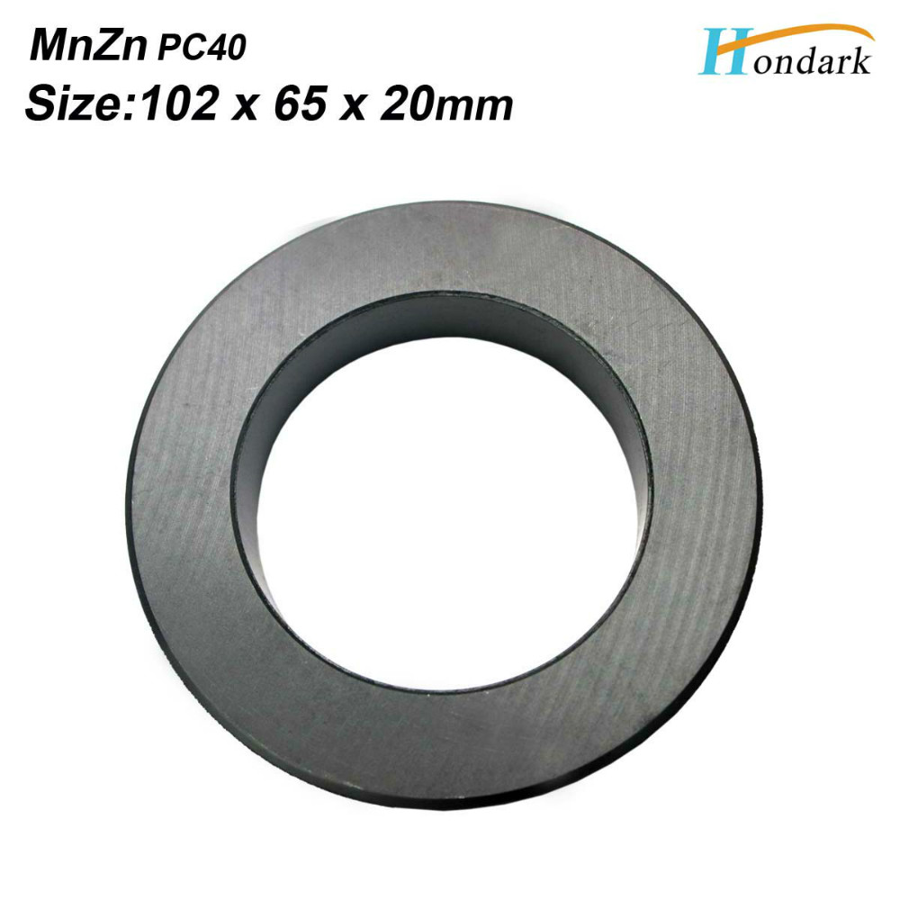 102X65X20mm ultra large transformer ferrite core 4X2 6X0 8 inch isolator inductor ferrite ring EMI filter