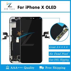 Image 2 - Grade AAA + + OEM OLED pour iPhone X XR XS LCD écran de remplacement lentille de remplacement alabla avec numériseur tactile 3D