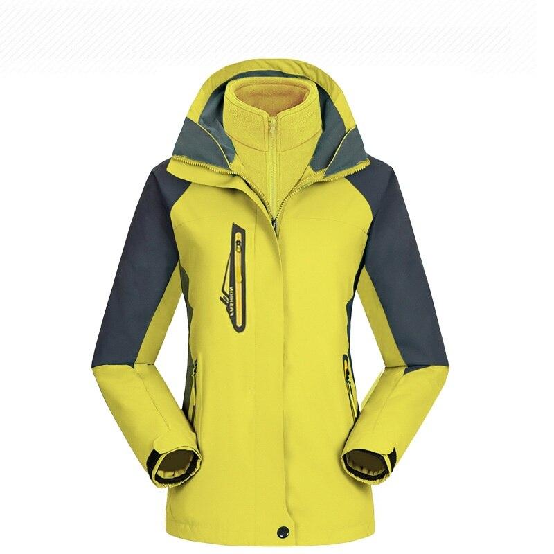 Extérieur imperméable respirant randonnée vêtements de plein air veste hommes femmes épais deux pièces combinaison de Ski snowboard ensembles Sportswear