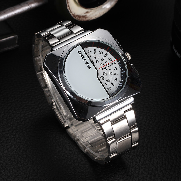 2015 Paidu Men Full Stainless Steel Watch Digital Pointer Unique Design Precision Invented Male Business Clock