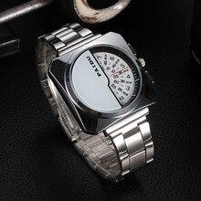 2015 Paidu Hombres Completa de Acero Inoxidable Reloj Digital Diseño Único Puntero de Precisión Inventó el Hombre de Negocios Reloj Reloj Militar