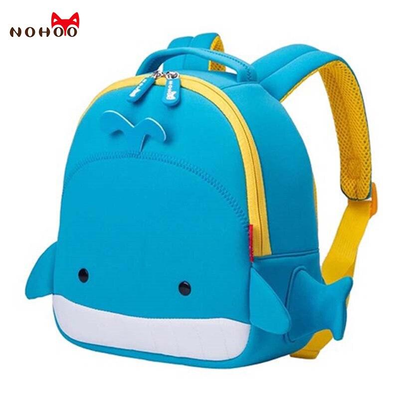 NOHOO Children School Bags Waterproof Cartoon Animals Whale School Backpacks for Kids Large Capacity Backpacks for ChildrenNOHOO Children School Bags Waterproof Cartoon Animals Whale School Backpacks for Kids Large Capacity Backpacks for Children