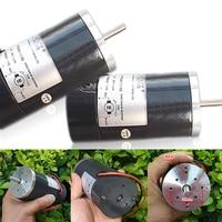 1pc DC 24V Gear Motor 3000RPM 60W High Power Carbon Brush Motor Ball Bearing DC Gear Motor Shaft Diameter 6.3mm