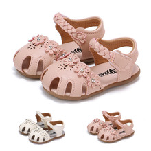 Summer Baby Girl Shoes Toddler Kids Neonate Solid Flowers Roman Hollow Out Sandali Scarpe da Principessa Sandali per Bambina GuuQVRZXQs