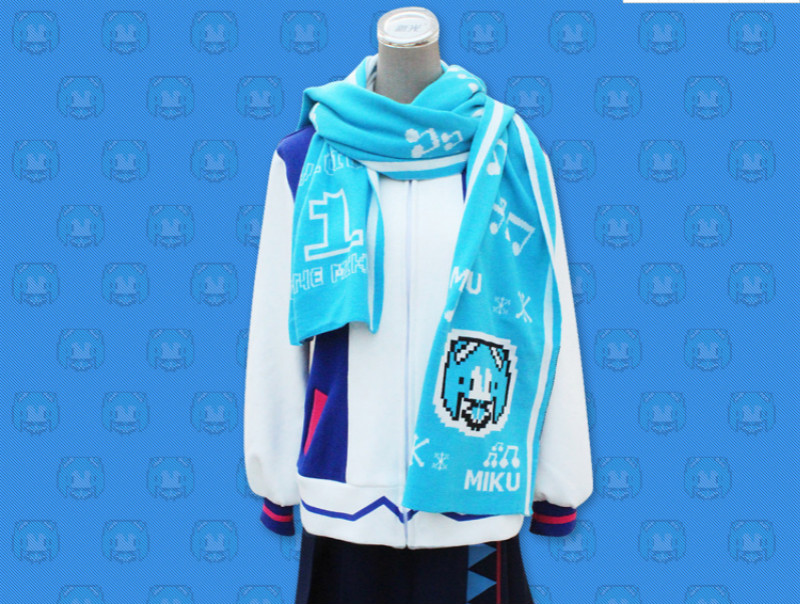Japan Anime Hatsune Miku  the Snow Miku  Cosplay Props Scarf and Shawl Dual Use Scarf Soft Warm Scarf Shawl