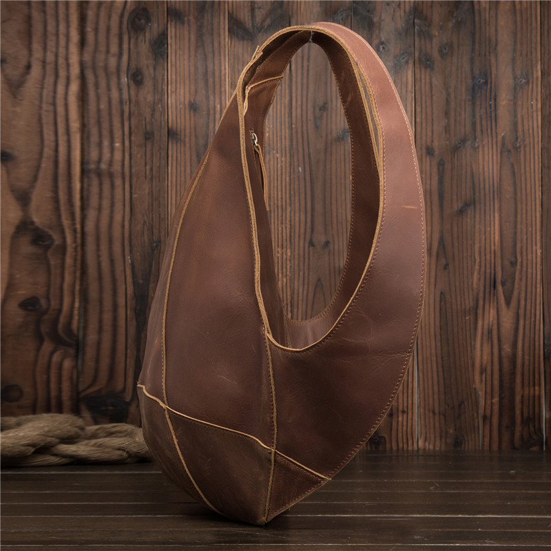 Sac à dos en cuir véritable pour hommes Mini sac à dos pour femmes d'affaires Messenger rétro sac fourre-tout décontracté sac à bandoulière sac de voyage pour hommes sac à main en cuir de vachette - 4
