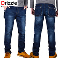 Drizzte jeans hombres más el tamaño 40 42 44 46 48 de algodón de diseño Stretch Denim Grandes Pantalones Grandes del Tamaño Pantalones Grandes de Bolsillo de Jean Para Hombres