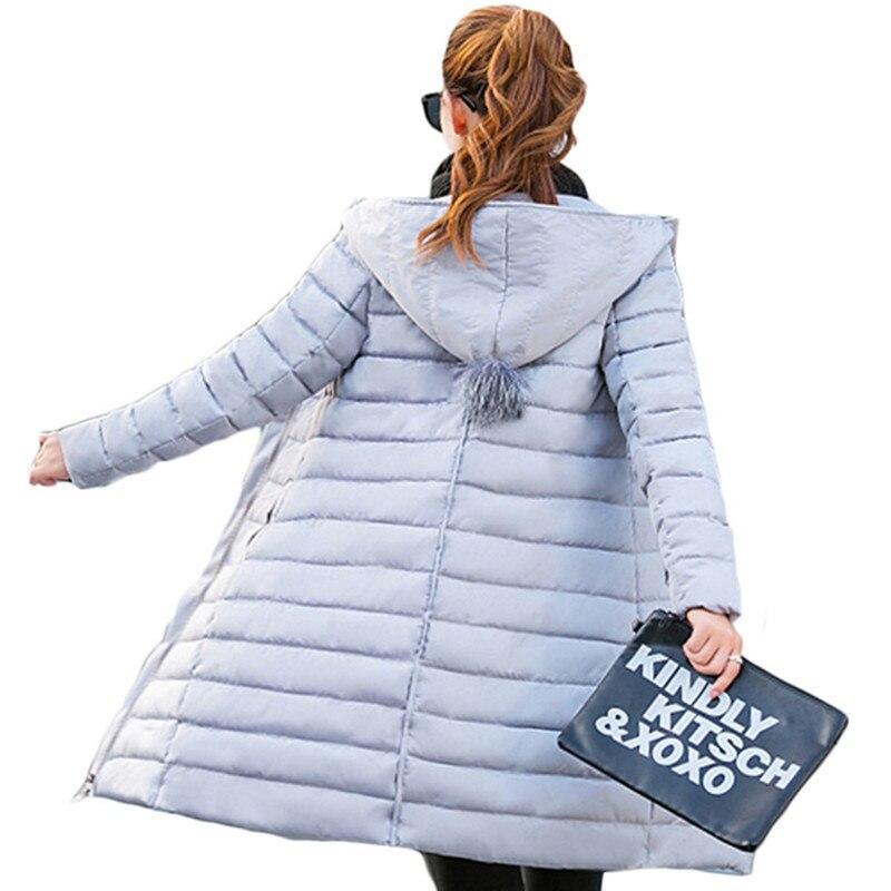 Large Size 2016 New Winter Jacket Women Long Cotton Padded Jackets and Coats Slim Hooded Jacket Thick Coat Female Parkas LH443