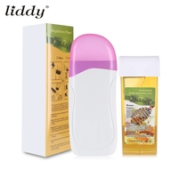 LIDDY 3 In 1 Electric Depilatory Hair Removal Wax Machine Paper Strip Depilation Wax Strips 100Pcs