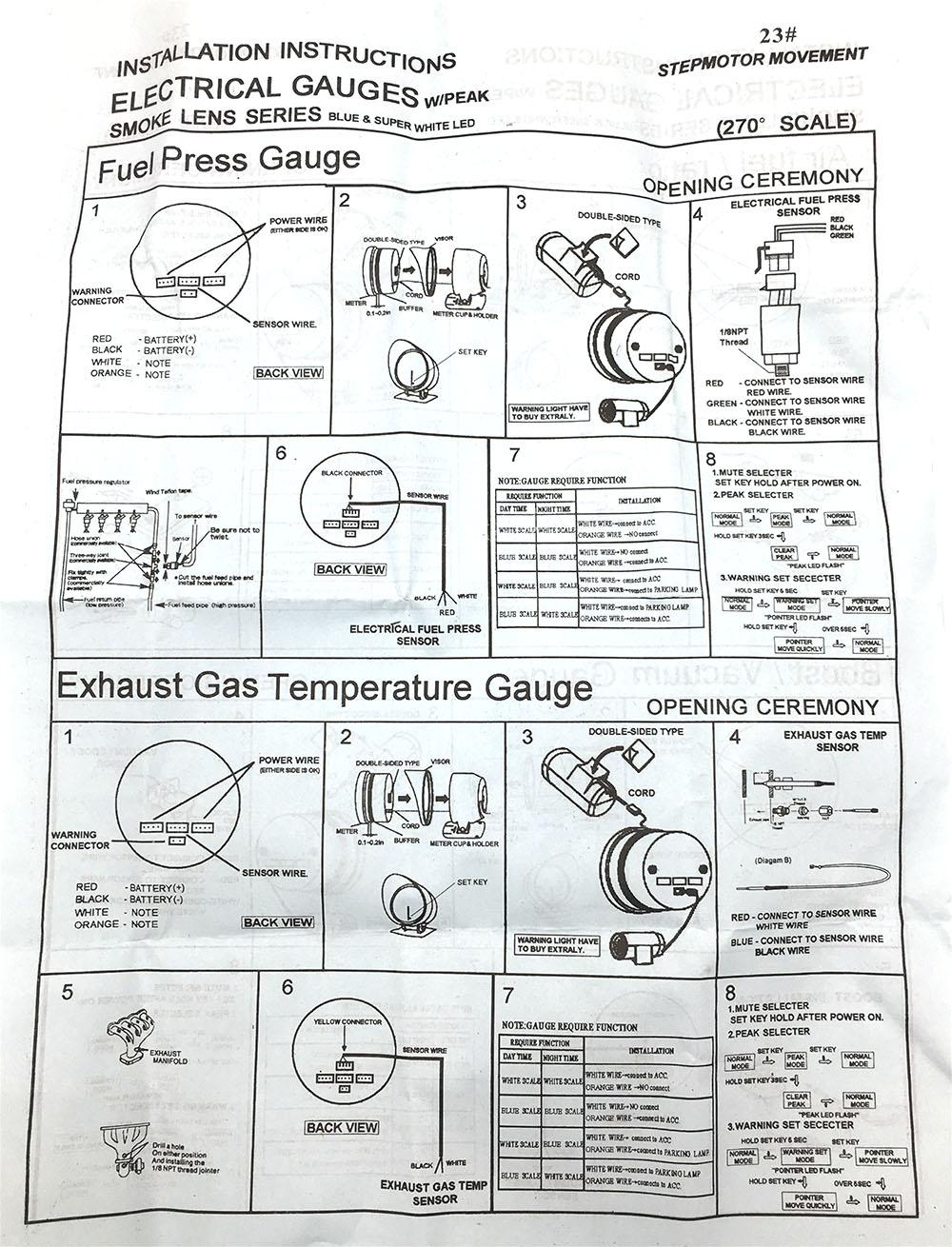 air fuel ratio gauge exhaust gas temperature gauge tachometer gauge boost gauge vacuum gauge oil temperature water temperature oil pressure gauge voltmeter  [ 1000 x 1310 Pixel ]