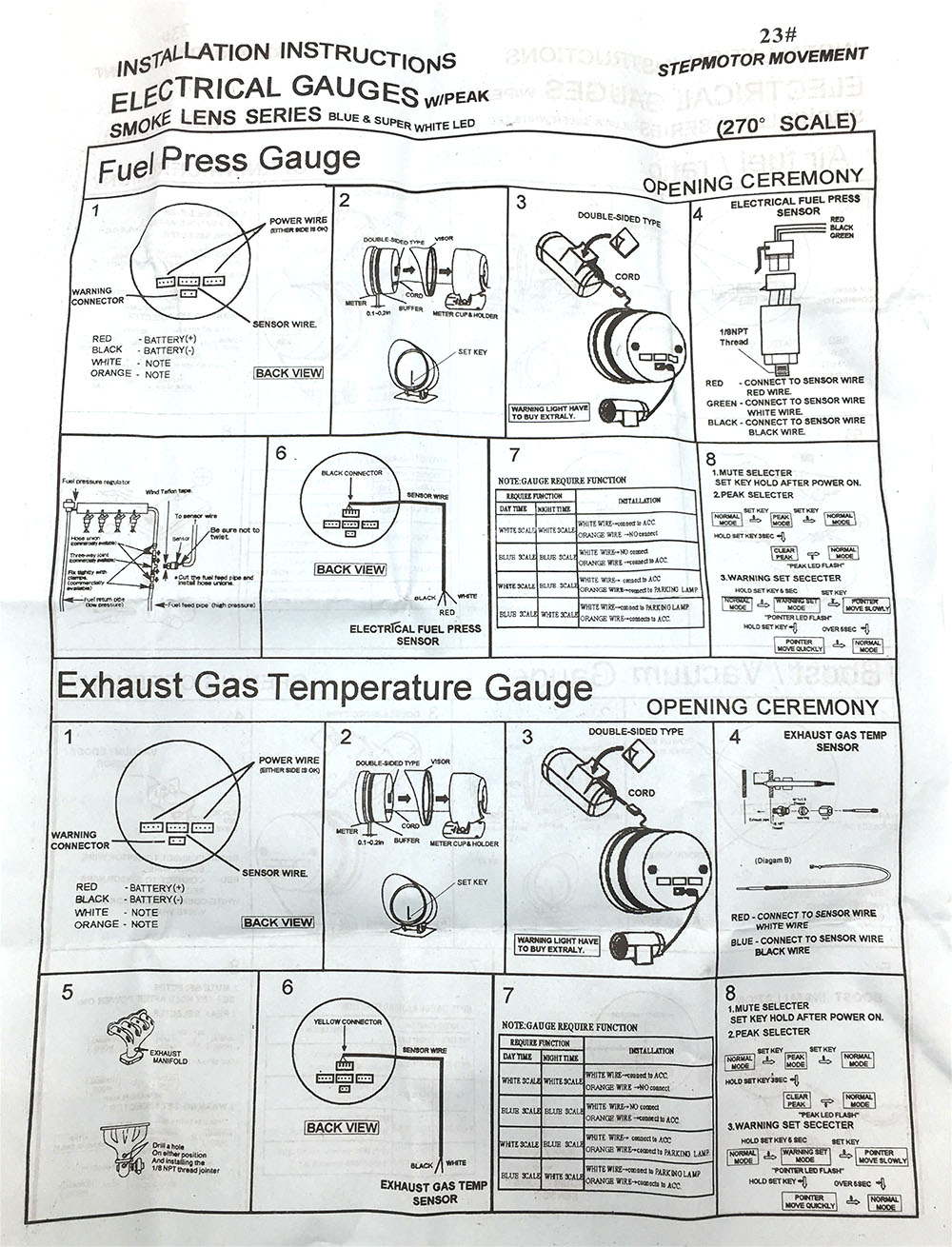 hight resolution of air fuel ratio gauge exhaust gas temperature gauge tachometer gauge boost gauge vacuum gauge oil temperature water temperature oil pressure gauge voltmeter