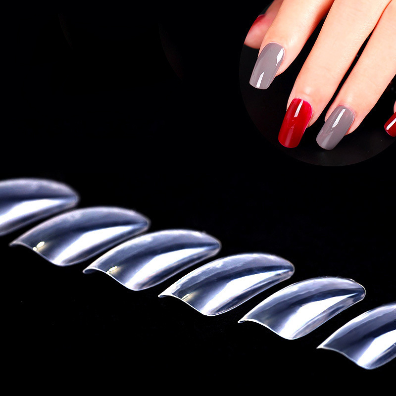 Fancy nails French Acrylic Atificail Fake 100pcs False Finger Nail ...