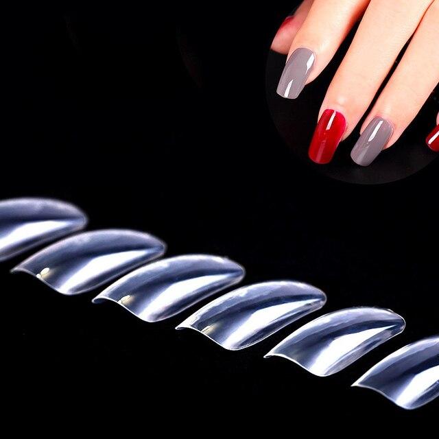 Fancy Nails French Acrylic Atificail Fake 100pcs False Finger Nail
