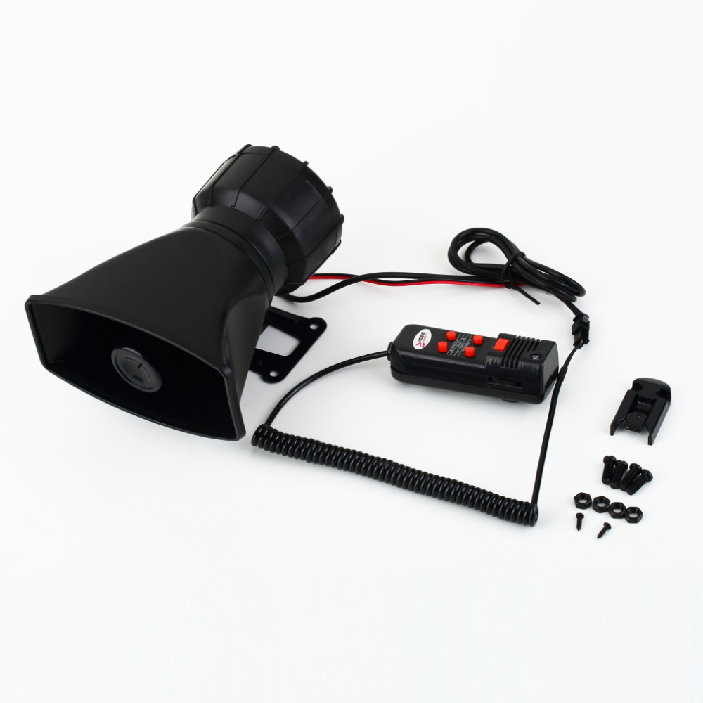 New Van Truck PA System 60W Loud Horn 12V Car Siren Auto Max 300dB 5 Sounds tone Auto Speaker Alarm Hot Selling