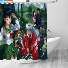 150x180CM Nordic Pictures Polyester Waterproof InuYasha Anime Shower Curtains High Quality Bath Curtain In The Bathroom(China)