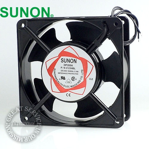 SUNON fan new cabinet cooling fan DP200A P/N 2123XSL  220V Axial Fans 120*120*38mm computador cooling fan replacement for msi twin frozr ii r7770 hd 7770 n460 n560 gtx graphics video card fans pld08010s12hh