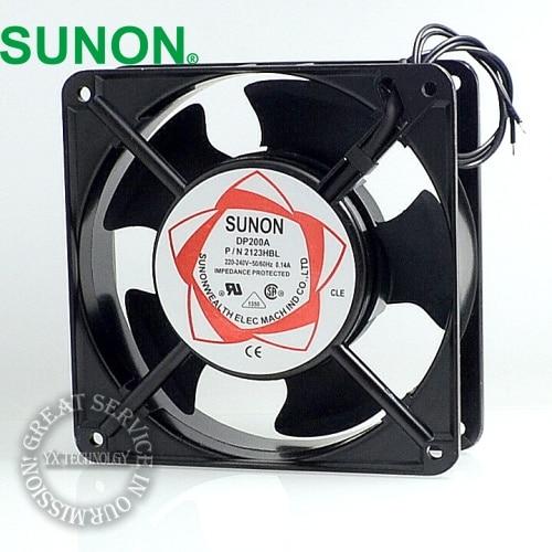SUNON fan new cabinet cooling fan DP200A P/N 2123XSL  220V Axial Fans 120*120*38mm sunon ac 220v aluminum cooling fan 120 x 120 x 25mm computer