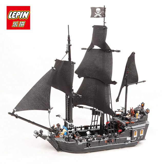 DHL Free 2017 804PCS LEPIN 16006 Pirates of the Caribbean The Black Pearl Ship Building Model Blocks Set Toys Clone 4184 waz compatible legoe pirates of the caribbean 4184 lepin 16006 804pcs the black pearl building blocks bricks toys for children