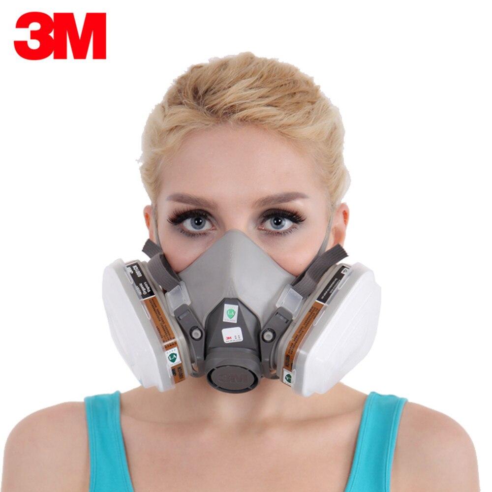 3 м 6200 + 6001 Anti-Dust противогаз половина лица респиратор анти органических паров бензол PM2.5 анти- газа многоцелевой защиты маска