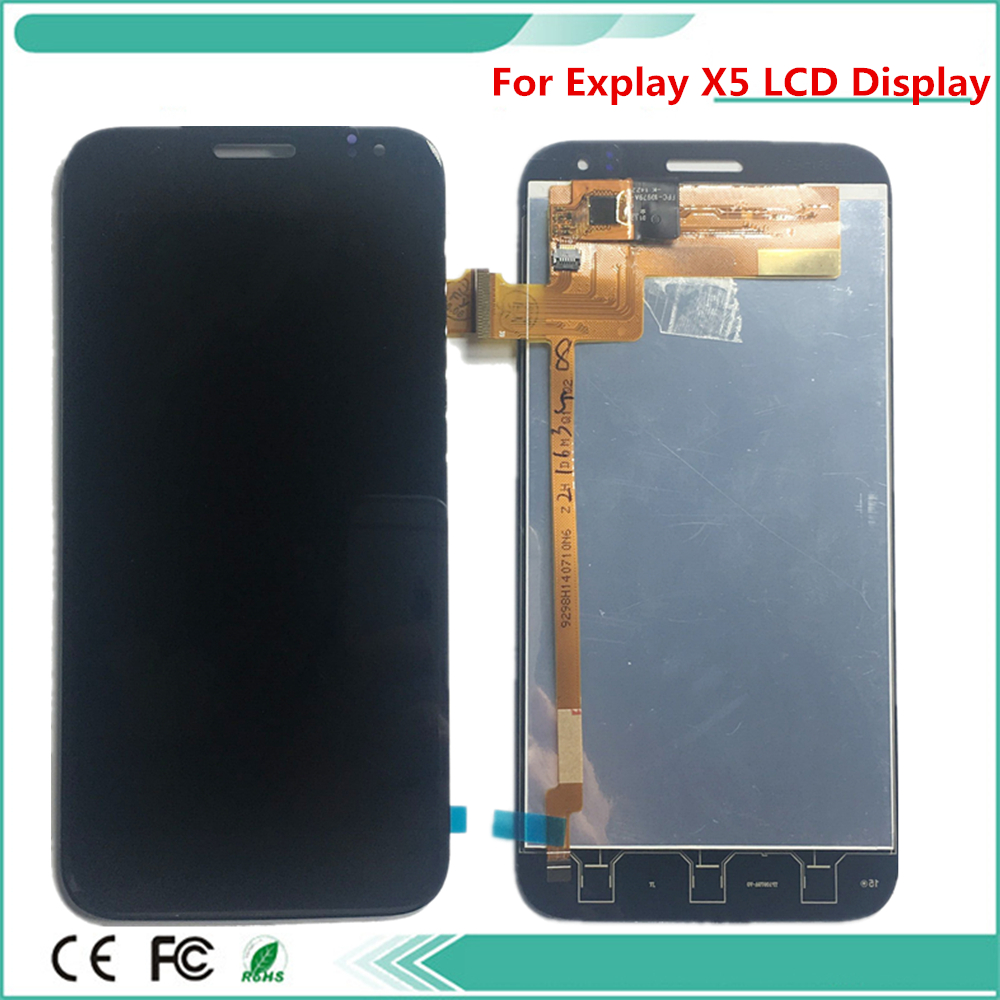 New Lcd phone For Explay X5 LCD Display LCD Display Screen And Touch Screen Assembly Replacement Part Black Color