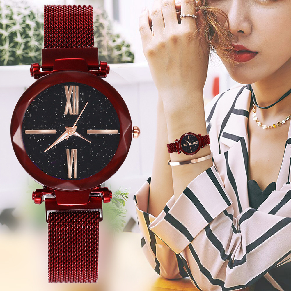 Luxe Women Watches Magnetic Starry Sky Female Clock Quartz Wristwatch Fashion Ladies Wrist Watch reloj mujer relogio feminino #A
