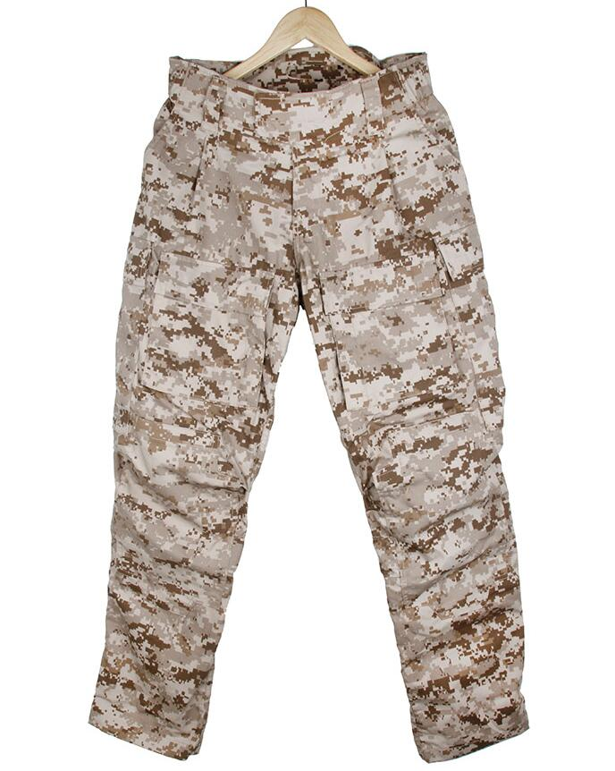 Tactical Elastic Waist Design DF Combat Pants Camo Cargo Pants Men AOR1(STG051078)