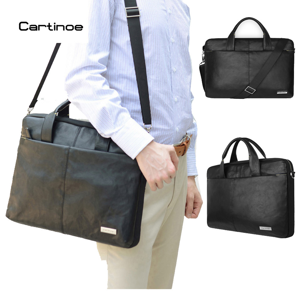Cartinoe PU Leather Business Laptop Bag 15.6 inch Laptop Sleeve case for Macbook Air 15 Pro 15 Retina Bag Men Handbag Briefcase ...