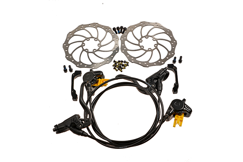 2016 MAGURA MT2 bike bicycle Hydraulic disk Brake Set Front & Rear Black with 160mm Rotors цены