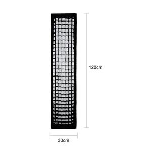 """Image 3 - Godox 12 """"x 47"""" 30x120cm taśma o strukturze plastra miodu prostokątna Softbox do zdjęć stroboskopowe błyskanie studyjne Softbox Bowens Mount"""