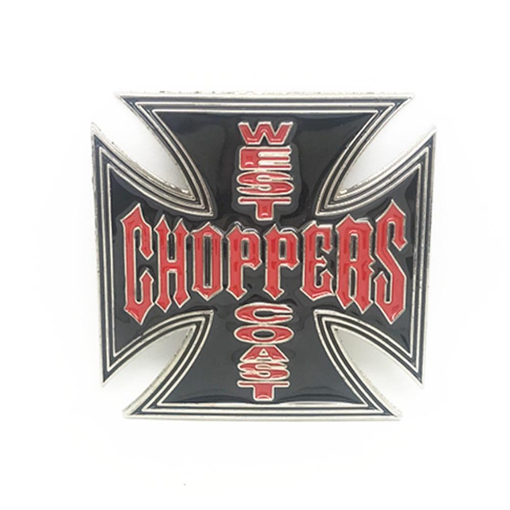 Punk Style WEST COAST CHOPPERS Cross Belt Buckle Metal Belt Clip Belt Accessories