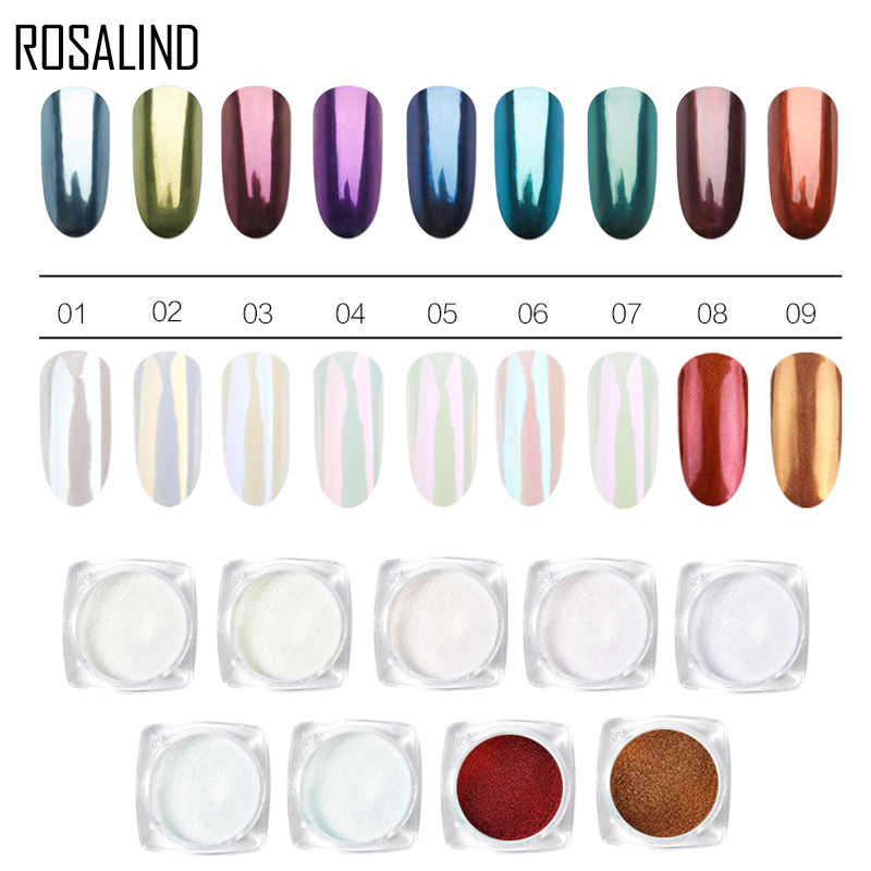 Rosalind 1 Box Neue Shell Nagel Spiegel Pulver Nagel Glitters Geschenk Nagel Kunst Dekorationen Design Pailletten Polieren Für Nägel Maniküre Nails Art & Werkzeuge