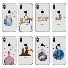 Cartoon The Little Prince earth space Soft silicone Phone Case Cover For iPhone X 10 6 6S Plus 7 8 King