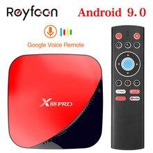 X88 برو الروبوت 9.0 مربع التلفزيون الذكية 4G 64G Rockchip RK3318 Qcta الأساسية 5G واي فاي 4 K HD مجموعة أعلى مربع جوجل مشغل الوسائط يوتيوب
