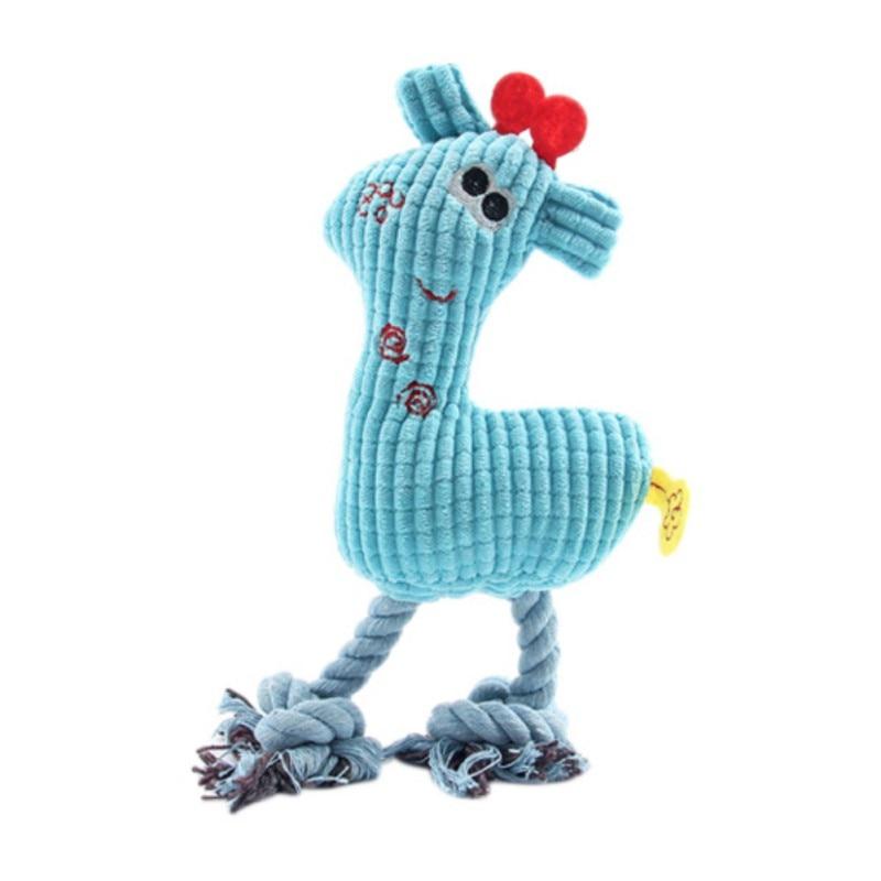 New Dog Toys Plush Corn Grain Squeaky Sounding Chew Toys