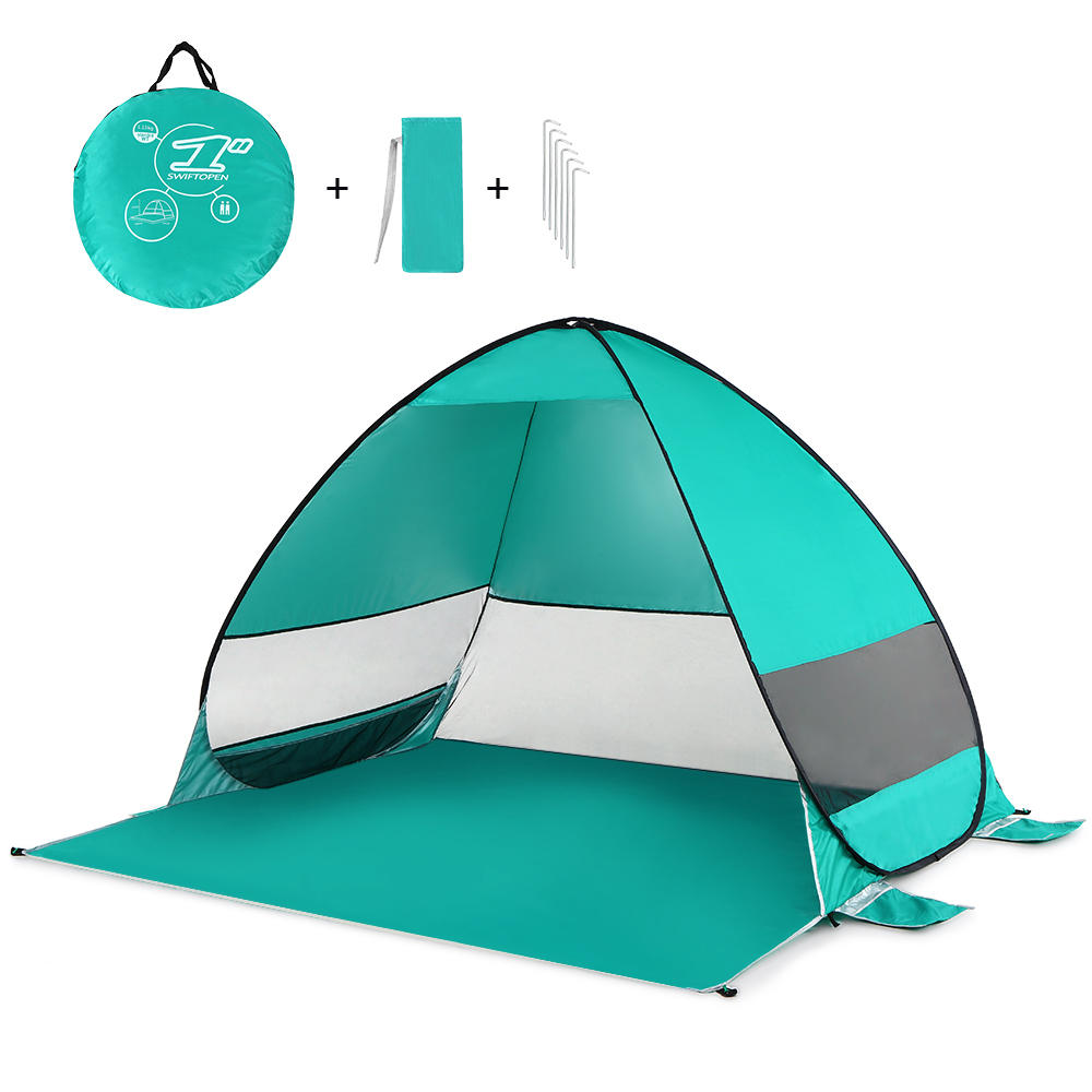 Image 4 - Automatic Pop Up Beach Tent Cabana Portable UPF 50+ Sun Shelter Camping Fishing Hiking Canopy Tents Outdoor Camping-in Tents from Sports & Entertainment