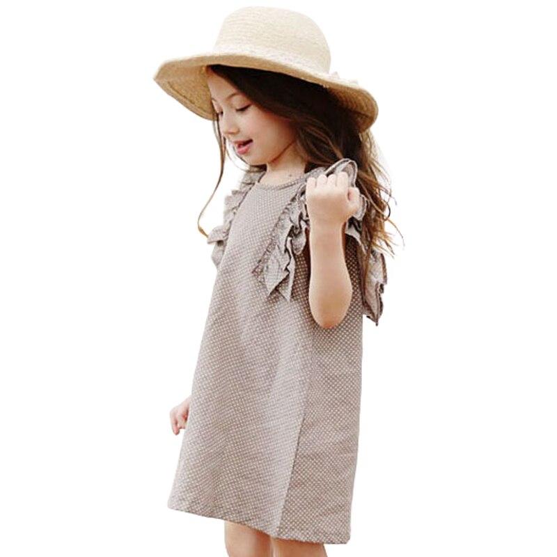 8df725c7c505e4 Dziecko Dzieci Letnie Polka Dot Dzieci Party Prom Dress Księżniczka Lady  Dziewczyny Suknie Nowe Dziecko Słodkie Casual Bawełniane Bez Rękawów Ubrania